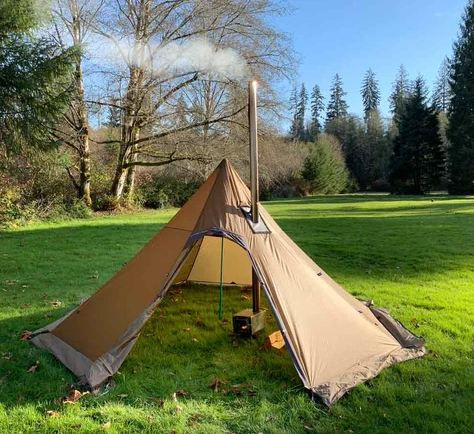 Tent with a stove
