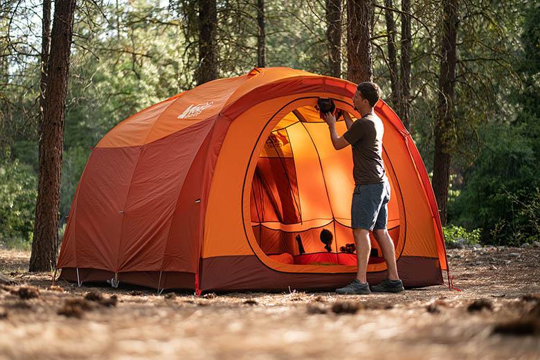 Preparing for hot tent camping