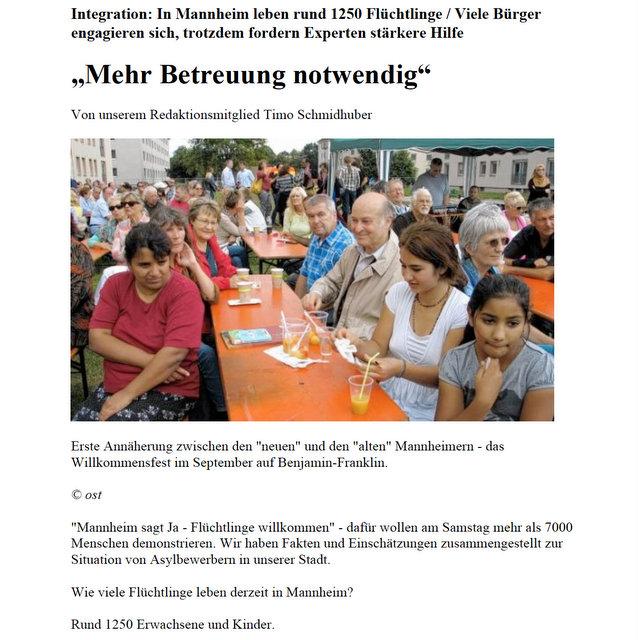 Gisela Kernte in Mannheimer Morgen