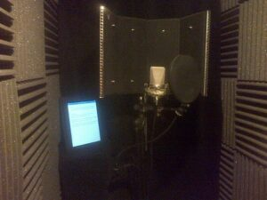 View of my voice over booth