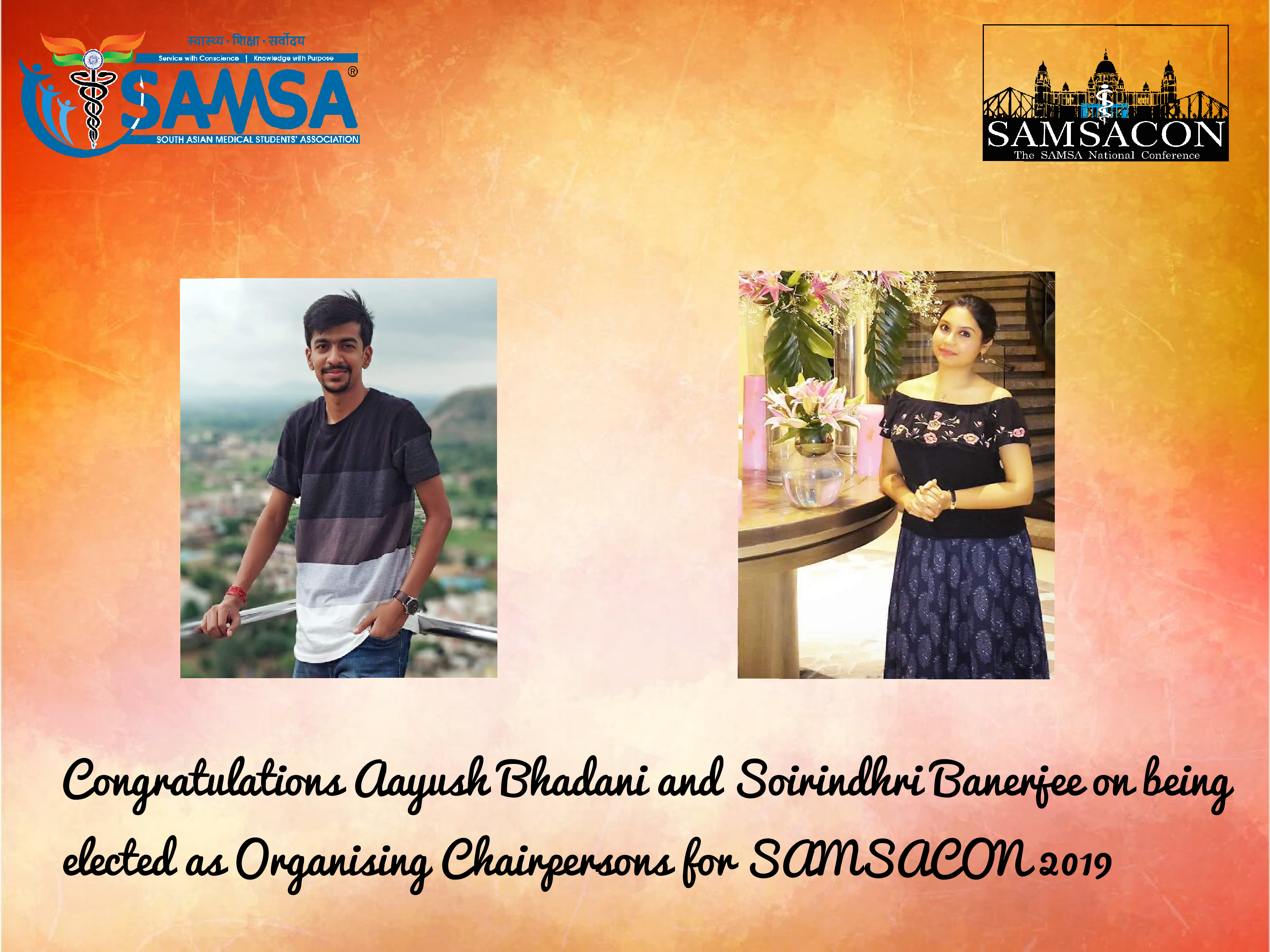 Organising Chairpersons of SAMSACON '19