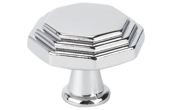 10819B40 Chrome Octagon Knob