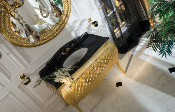 ALLEGRO MATTE GOLD VANITY CABINET