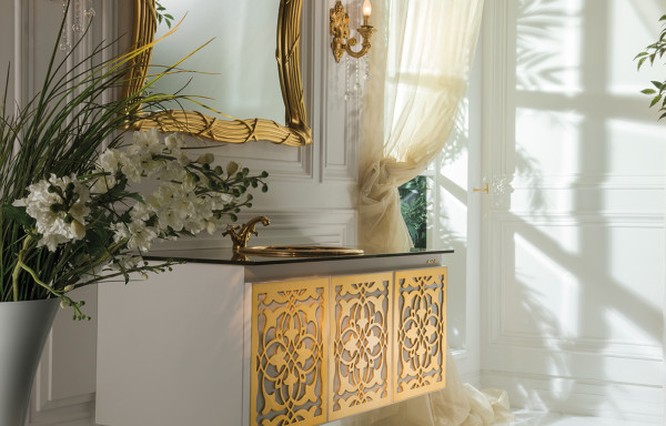ANATOLIA GOLD & WHITE WALL HUNG VANITY