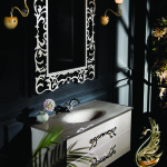 Crystal bath vanity