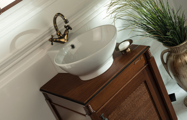 NAZZ WALNUT VANITY WITH VESSEL SINK
