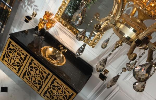 ANATOLIA GOLD & BLACK WALL HUNG VANITY
