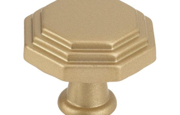 10819B0903 Octagon Matte Brass cabinet knob