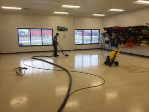 concrete floor cleaning