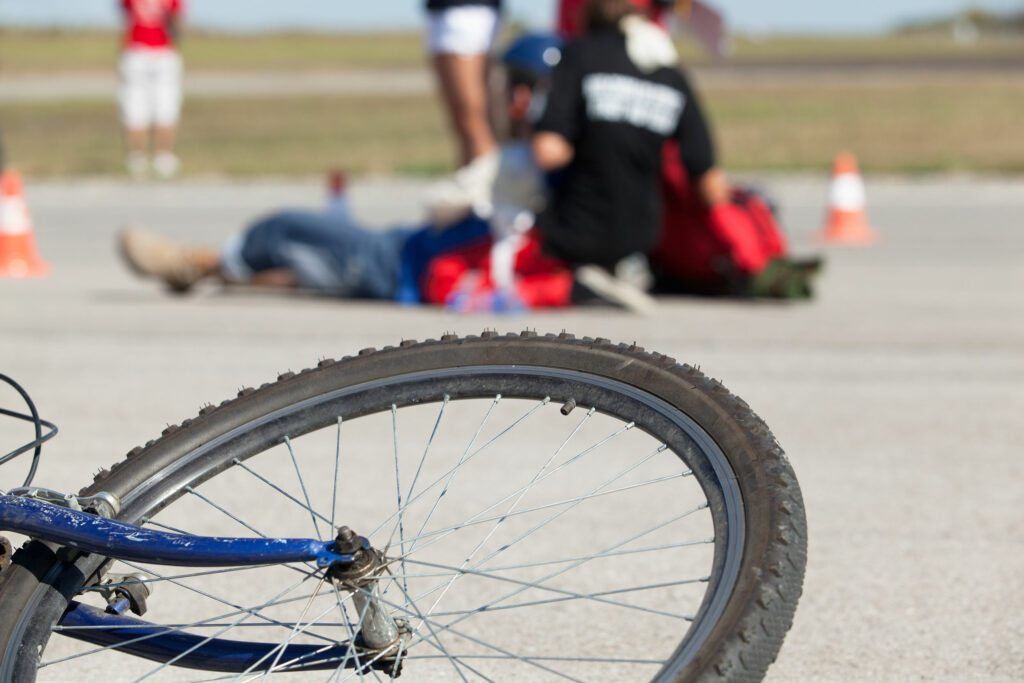 First aid after bike accident