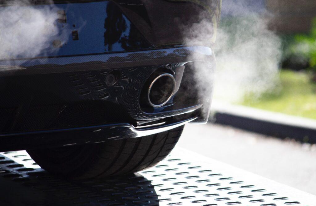 Car exhaust representing carbon monoxide poisoning