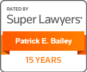 Patrick Bailey - 15 Years Super Lawyers Badge