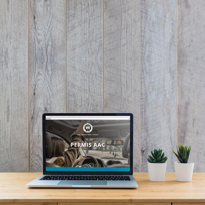 AUTO-ECOLE Logo • Site Web / Réservations • Enseigne • Consulting Stratégie