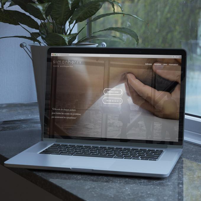 OSTEOPATHE Identité Visuelle • Site Web / Réservation en ligne • Cartes de Visite