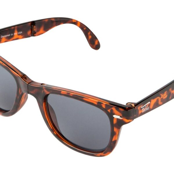 tortoise shell folding sunglasses