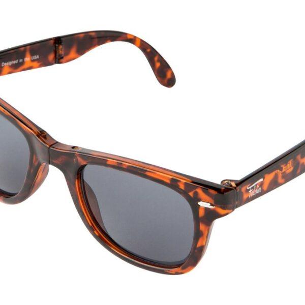 tortoise shell folding sunglasses