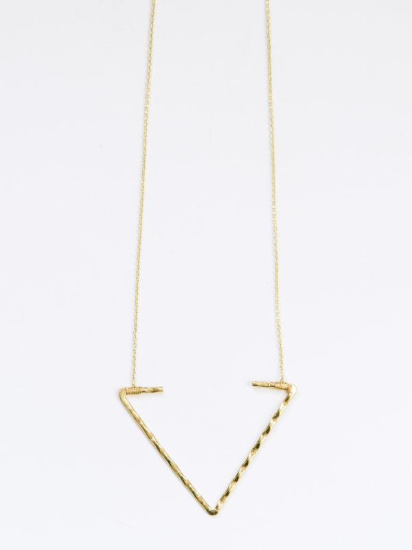 open arrow necklace gold long