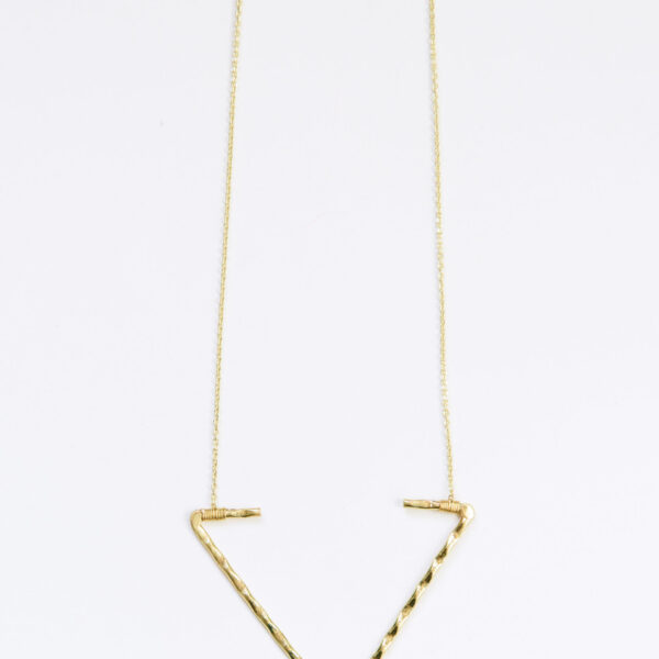 open arrow necklace gold long