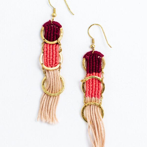 santa cruz earrings long dangle