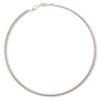 Large silver metal hoop earrings (70mm)