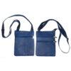blue leather passport bag