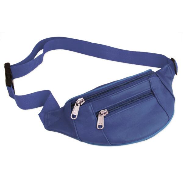 royal blue leather belt bag