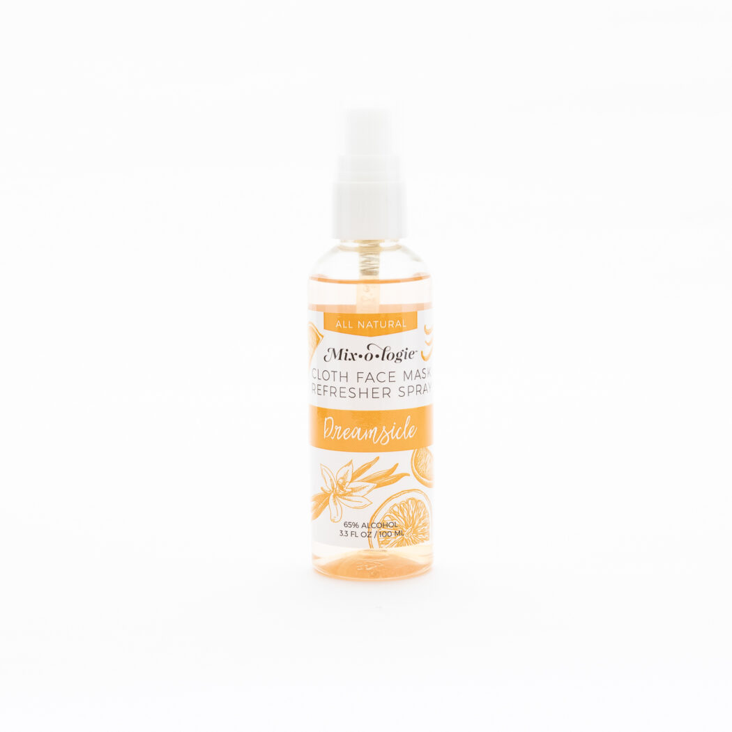 MR-100-Dreamsicle Face Mask Refresher Spray White backgorund