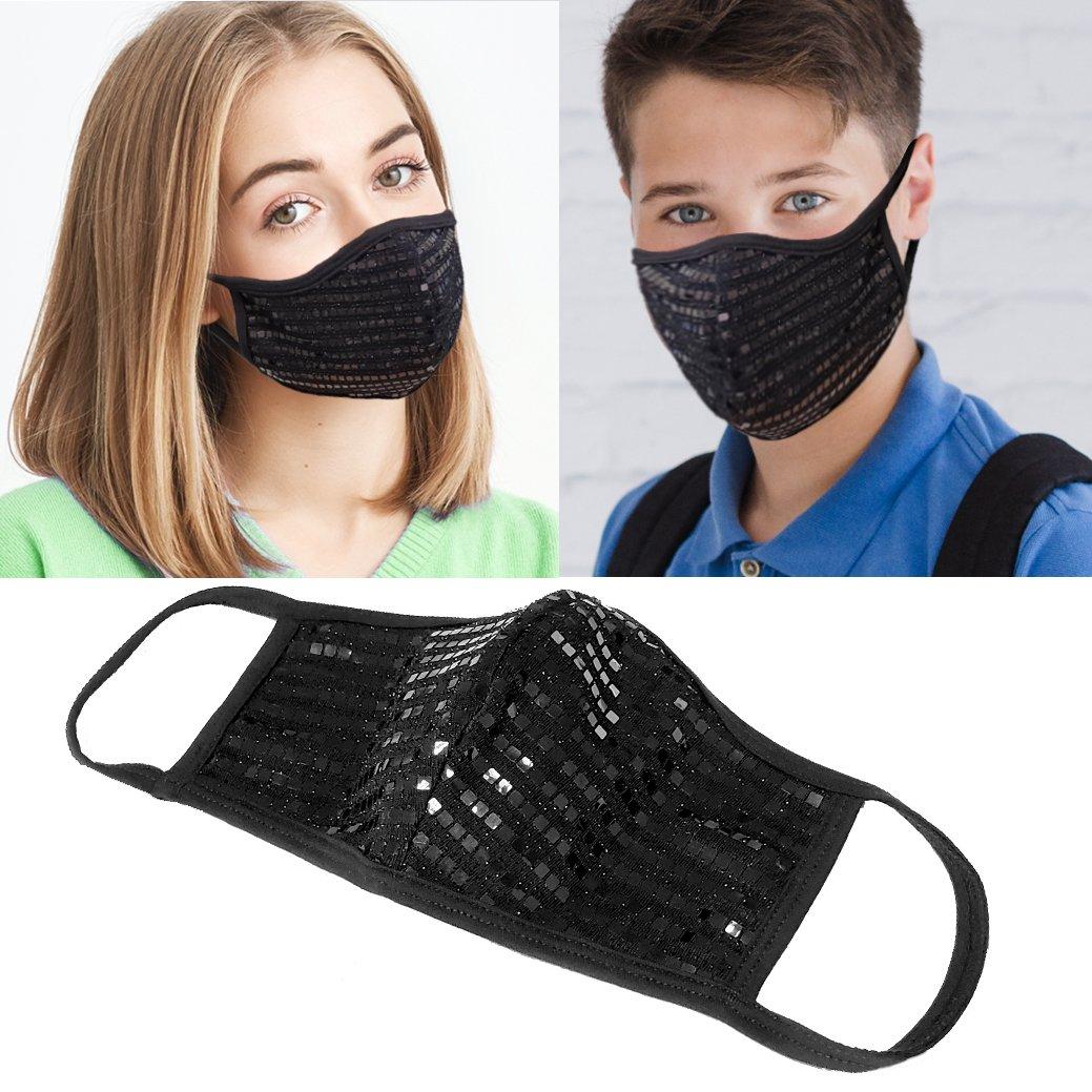 black sequin mask models