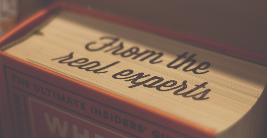 Image of a book with the words 'from the real experts' written on the spine