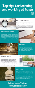 Top tips for learning and working at home