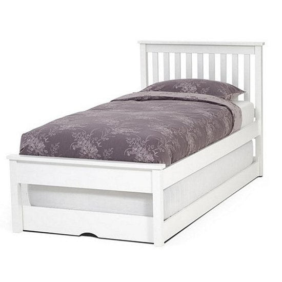 Serene Heather White Guest Bed