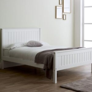 Limelight Taurus White Wooden Bed