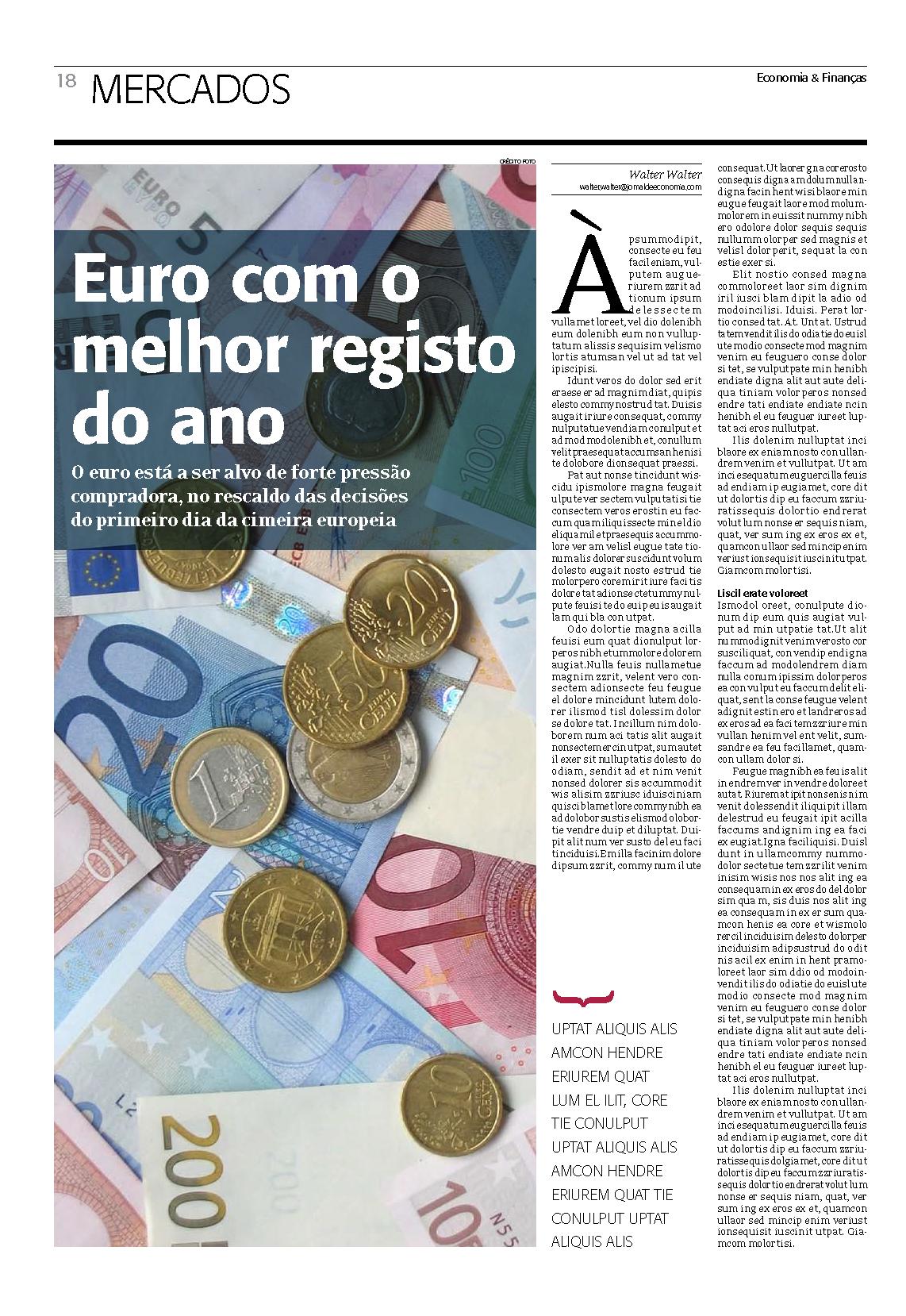 Projecto Economia e Finanças