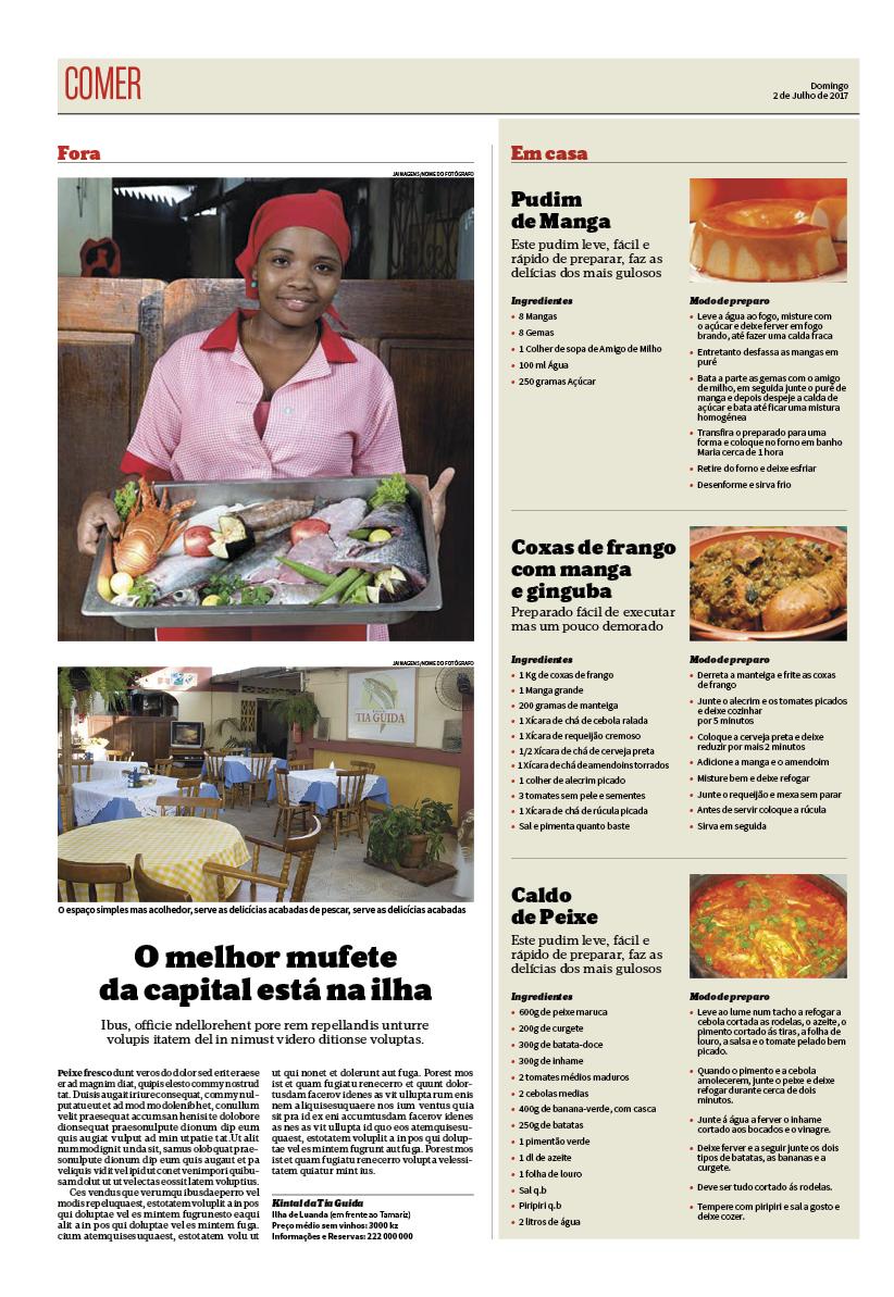 Projecto destacável Fim-de-Semana Jornal de Angola – jribeiro