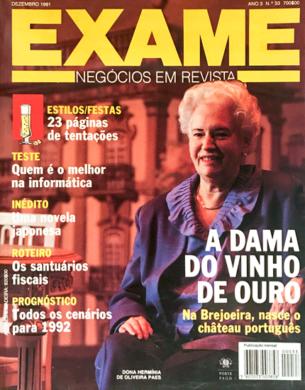 Exame n.º 33 – Dezembro 1991