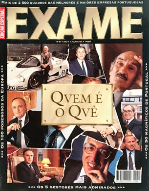 Exame n.º 81 – Quem é o quê – Julho 1995