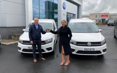 Pick up of two new service vans