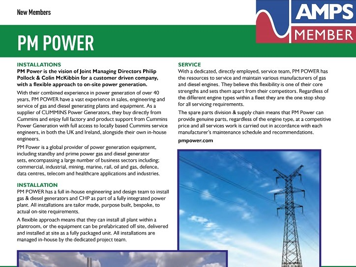 PM POWER is now a proud member of AMPS!