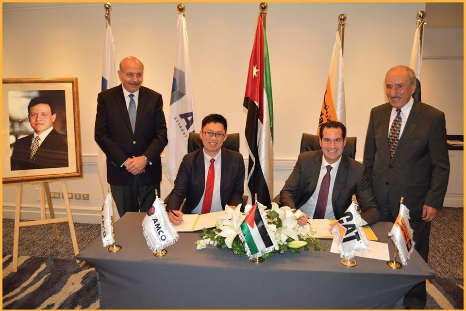 Attarat Mining Company and Jordan Tractor Marked the Signing of a JOD3.1 Million Order of Caterpillar Mining Equipment for the Attarat Oil Shale Power Project