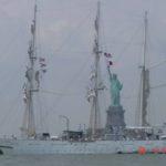 INSV Tarangini in New York for India's first solo circumnavigator Dilip Donde