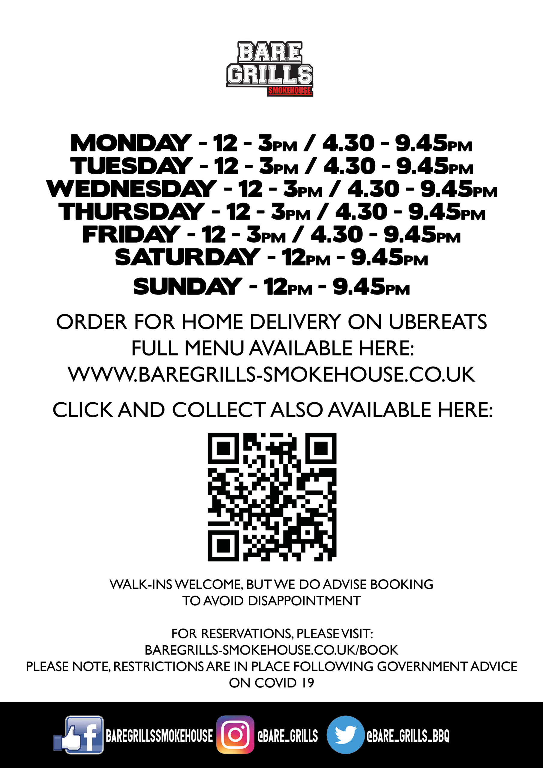 ALL SITES OPENING HOURS