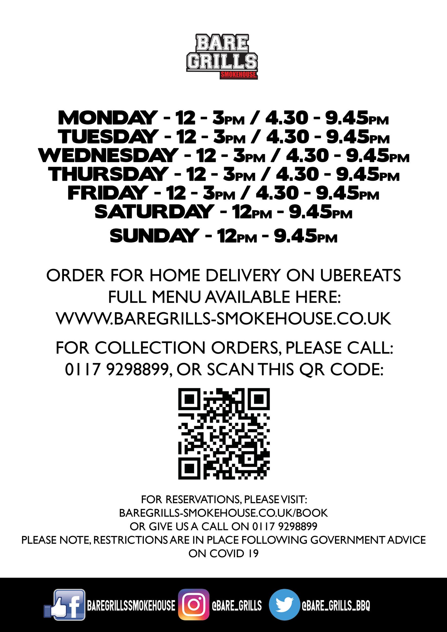 Opening Hours QR - Bristol