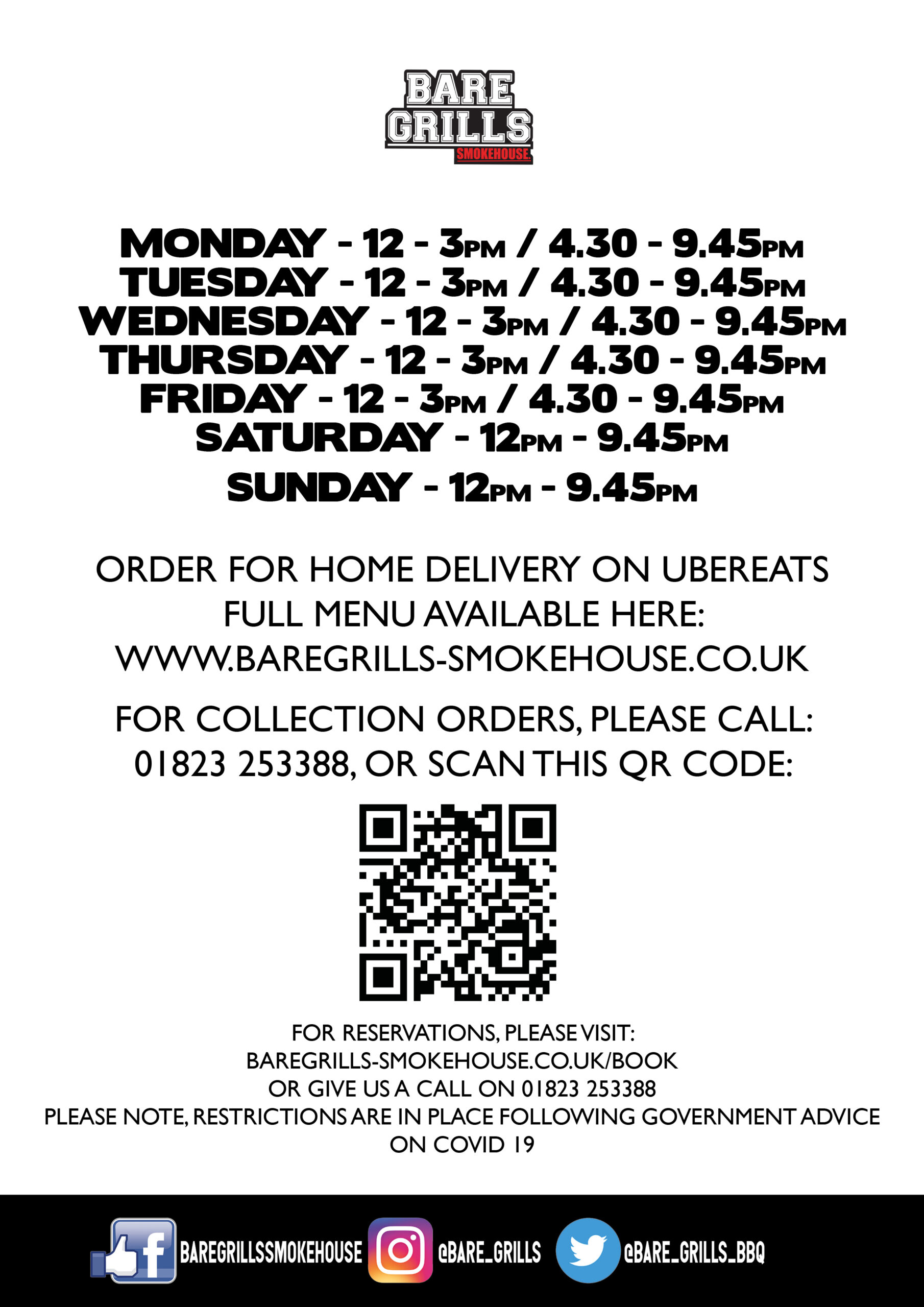 Opening Hours QR - Taunton