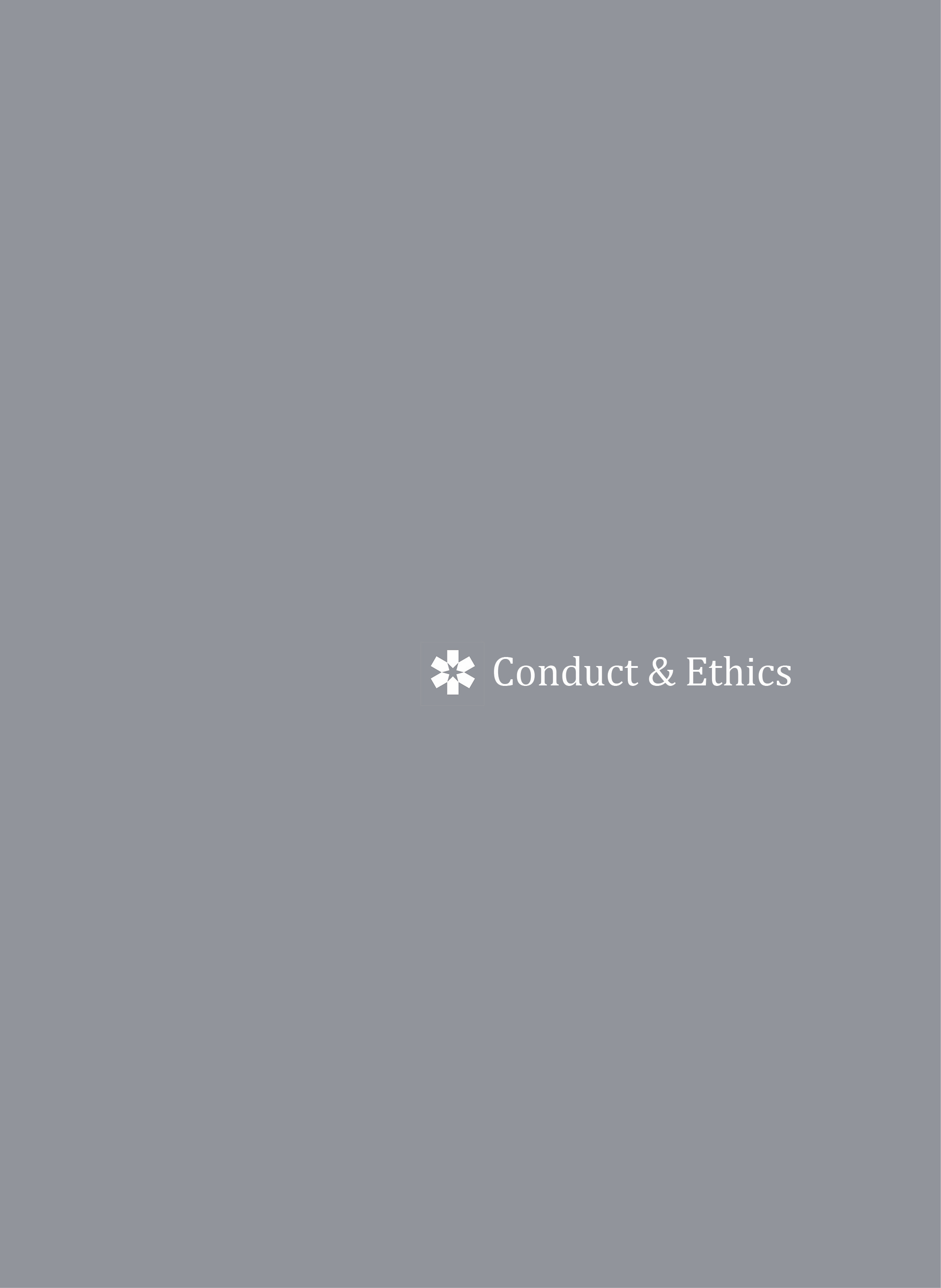 Conduct & Ethics Statement