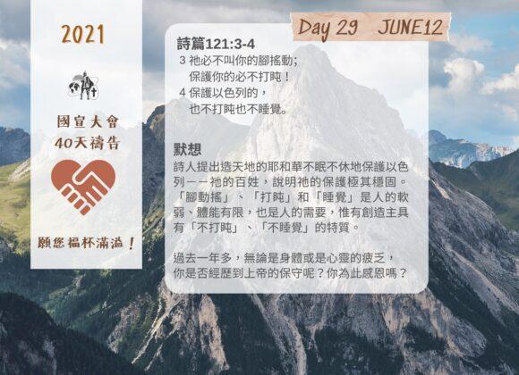 國宣大會40天禱告Day29