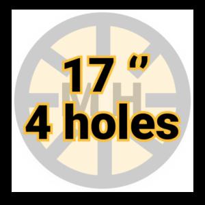 "17"" 4 holes"