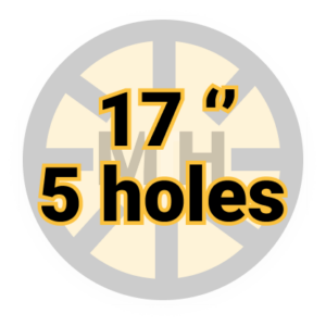 "17"" 5 holes"
