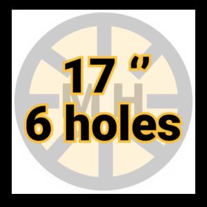 "17"" 6 holes"
