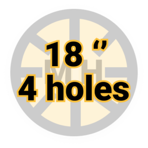 "18"" 4 holes"