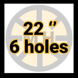 "22"" 6 holes"